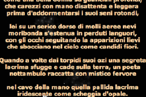 Baudelaire, Tristezze della Luna